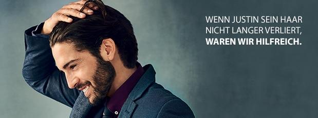 Ihre Anti-Haarausfall-Haarpflege gegen gelegentlichem Haarausfall bei Männern (weniger als 6 Monate)