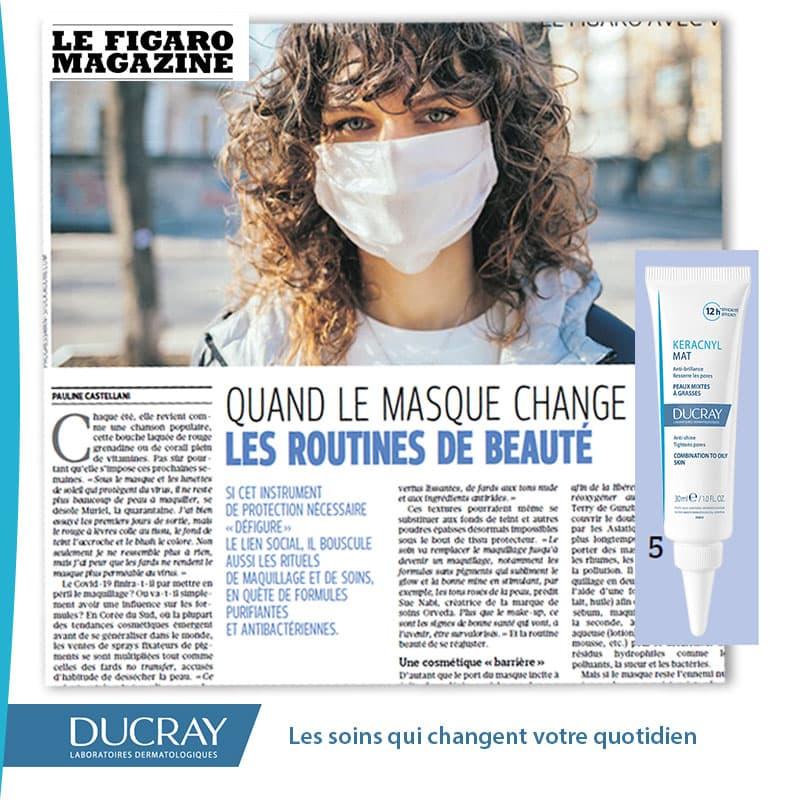 Keracnyl Mat dans Figaro Magazine