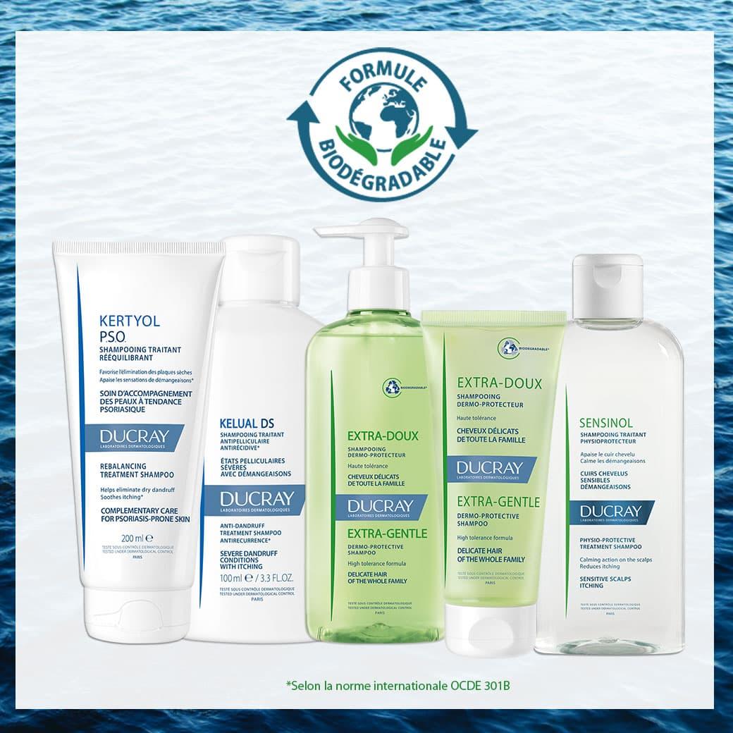 Shampooings biodégradables Ducray