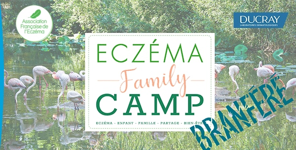 affiche eczema family camp de l'association francaise de l'eczéma