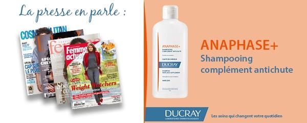 La presse parle de Ducray : Shampooing complément antichute Anaphase+
