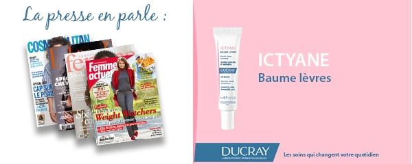 La presse parle de Ducray : Baume lèvres Ictyane