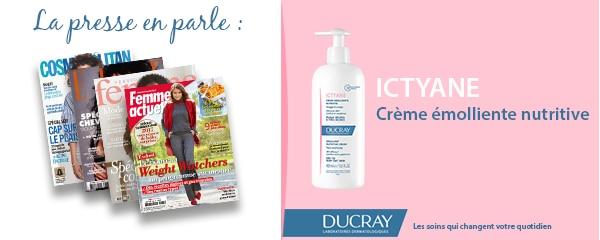 La presse parle de Ducray : Crème émolliente nutritive Ictyane
