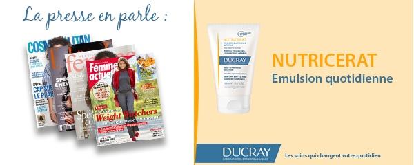 La presse parle de Ducray : L'émulsion quotidienne nutritive Nutricérat