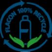 Flacone 100% in PET riciclata o riciclabile